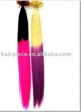 pre-bonded hair extension,pre tipped hair,keratin glue tip hair extension