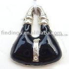 Enamel charm jewelry connector