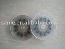 Round clear plastic CD/VCD/DVD box