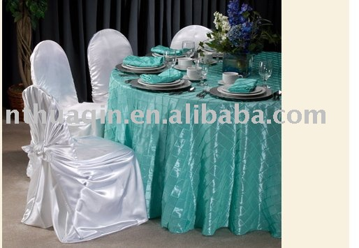 Taffeta pintuck table clothtable clothtable linen
