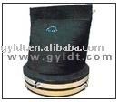 rubber duckbill valve with stainless steel hoop