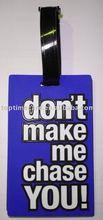 pvc Luggage tag/Travel Hang Tag/plastic card