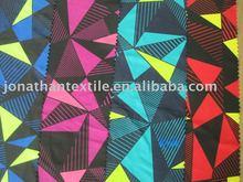 Popular triangular form printed swimsuit , beachwear fabric manufacturer