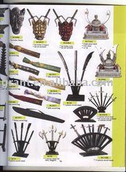 Swords wood rack