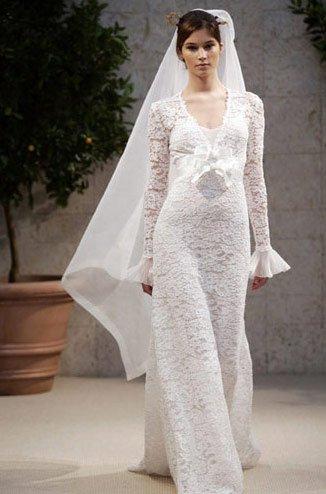 2010 hotsale white lace arabic wedding dress TY5691