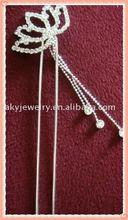 rhinestone hair fork