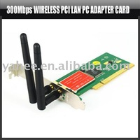 300Mbps Wireless PCI Lan PC Adapter Card 802.11N 1T2R Wifi,YHA-PC077