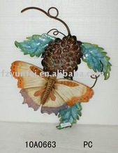 2010 new design metal butterfly for home decoration on nature