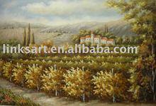 Handpainted Oil Painting Vineyard Oil Painting