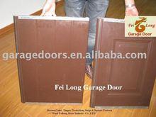 Garage Door Panel with Brown Colour --- CE & ISO Certificate