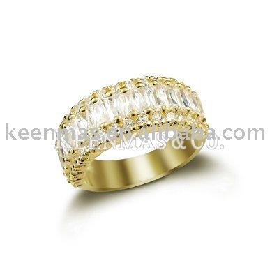 Chapado en oro de la joyería, Anillo de plata, El mismo moldes se puede hacer en material de cobre