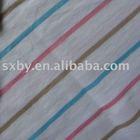 100%Cotton yarn dyed rib knitting fabric