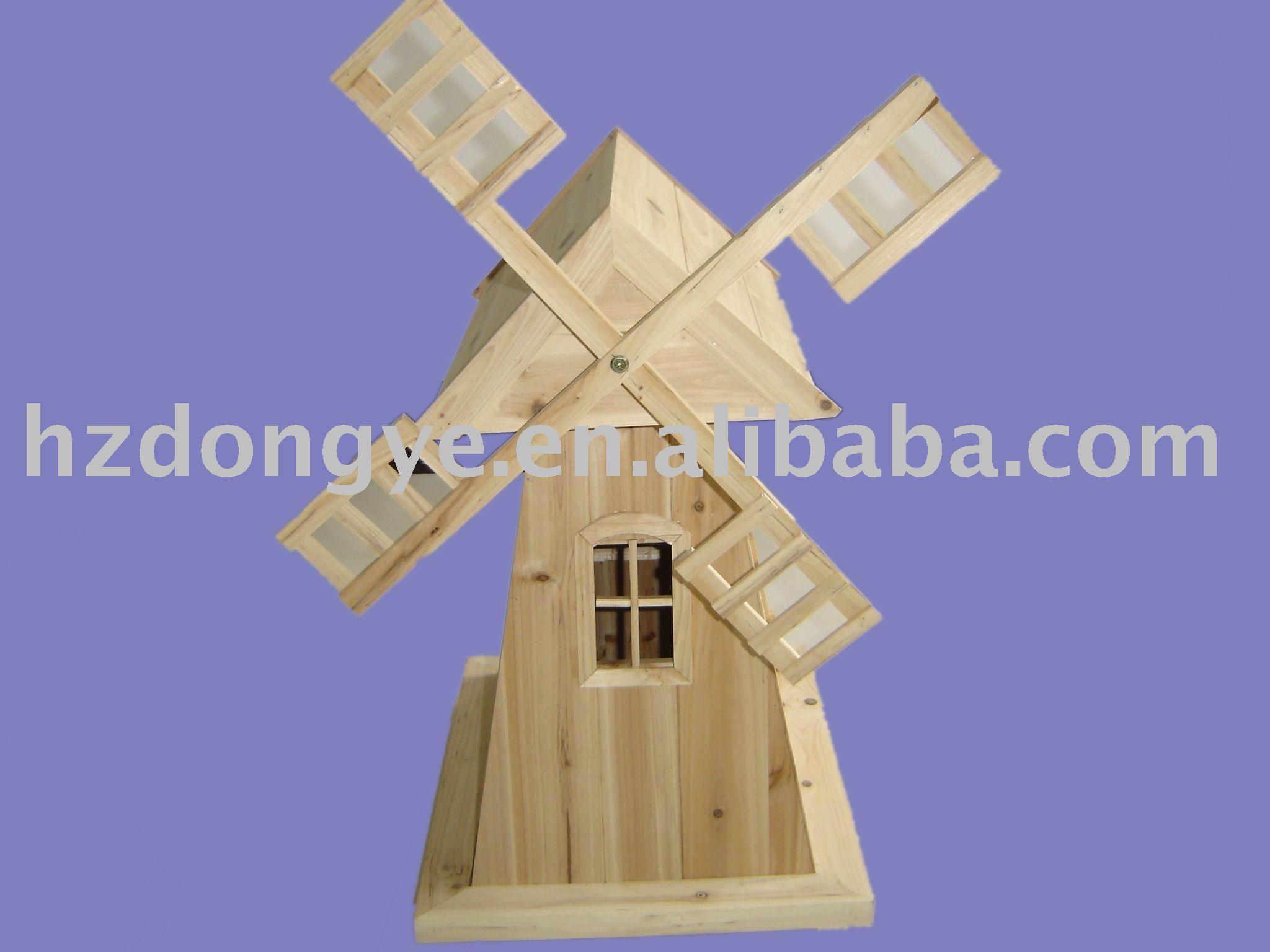 moulin à vent décoration de jardin en bois--Id du produit:316939113 ...