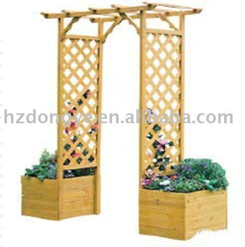 Levier de fichier arc de jardin en bois for Arc de jardin en bois