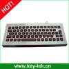 IP65 vandal proof industrial desktop backlight keyboards