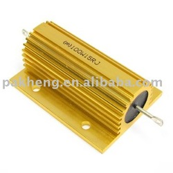 Power Resistors with Gold Aluminum housed wirewound