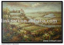 Impressionist Vineyard Oil Painting