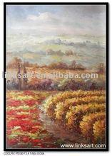 Impressionist Vineyard Decorative Oil Painting