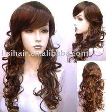 new long dark brown fashion wigs