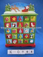 wooden christmas calendar box