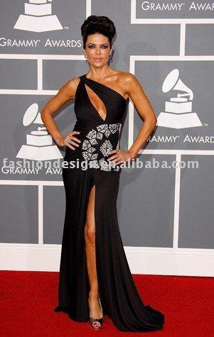 Shoulder Black Dress on Rcp086 One Shoulder Black Diamonds Red Carpet Celebrities Prom Dresses