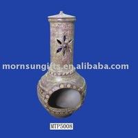 clay outdoor chiminea