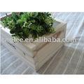 plantador da flor de madeira caixa