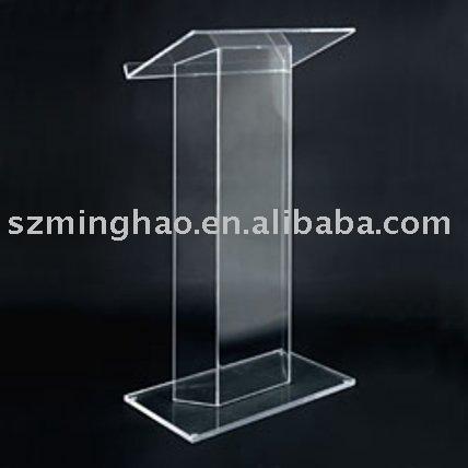 Clear Acrylic Lecture Table Acrylic Podium Speech Desk