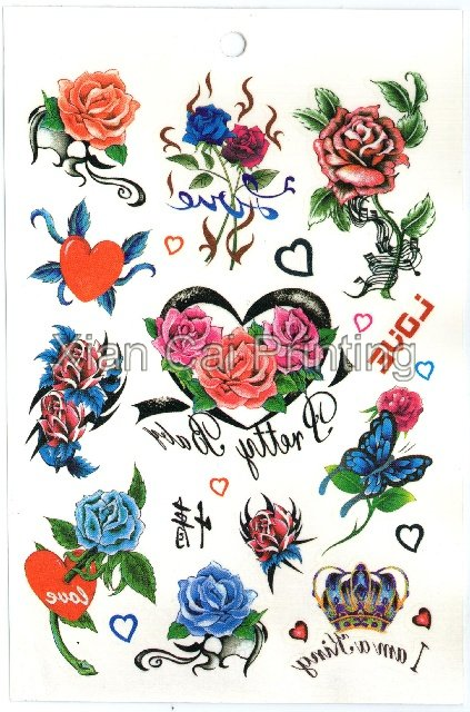 See larger image Flower Tatoo sticker