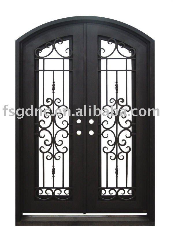 Forjado de hierro de la puerta exterior puerta for Puerta hierro exterior