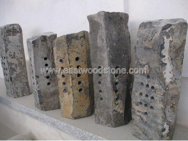 Natural piedra linterna de jardinería adornos