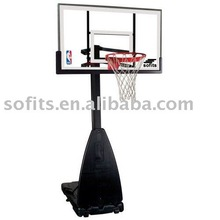 Sofits Portable Basketball System with 54-inch Aluminum Framed Glass Backboard