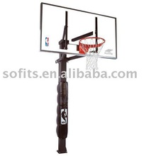 72-Inch In-Ground Basketball System with Glass Backboard