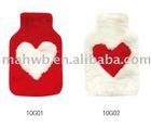 Faux fur hot water bag cover