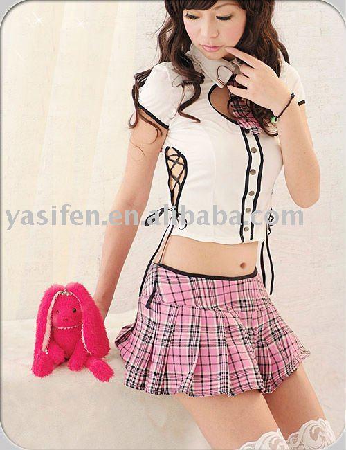 2010 New Style Sexy Schoolgirl Costume