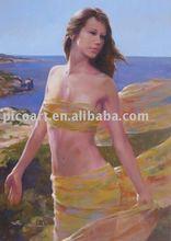 handmade human figure oil painting