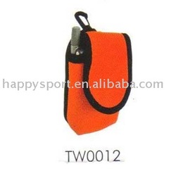 cheap red neoprene mobile phone pouch