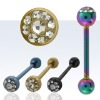 fashion stainless steel tongue ring body jewelry