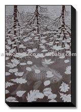 leaves art painting on canvas