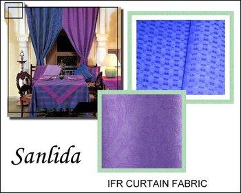 Permanent fire retardant hotel curtain fabric