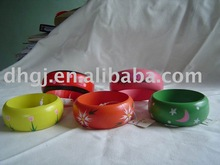 colorful painted wooden bangles wholesale