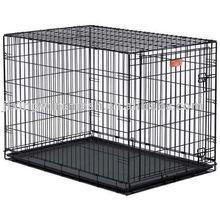 Folding metal single door dog cage