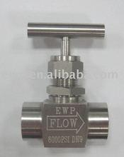 Stainless steel needle valve --Female thread-connection/orifice optional