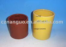 ceramic flower pot cylinder shape