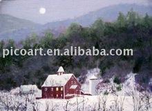 winter landscape,landscape oil painting