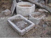 granite old stone flower square trough