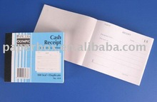 carbonless receipt service or delivery book with triple copy page and dividers
