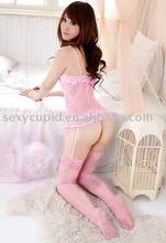 cute pink women garter belts first order no MOQ