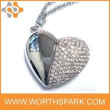 heart shape jewelry USB FLASH MEMORY