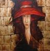 Original oil painting,portrait oil painting,lempicka oil painting
